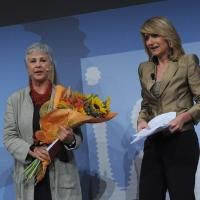 """Foto Nicoloro G. 19/06/2010  Riccione (Rimini)  Sedicesima edizione del """"Premio giornalistico televisivo Ilaria Alpi"""". nella foto Ottavia Piccolo – Tiziana Ferrario"""