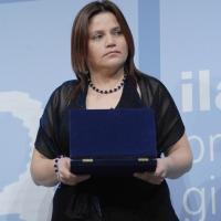 """Foto Nicoloro G. 19/06/2010  Riccione (Rimini)  Sedicesima edizione del """"Premio giornalistico televisivo Ilaria Alpi"""". nella foto Claudia Duque"""