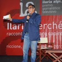 """Foto Nicoloro G. 06/09/2012 Riccione ( Rimini ) Diciottesima edizione del """" Premio Ilaria Alpi """", premio giornalistico televisivo che gode dell' Alto Patronato della Presidenza della Repubblica. nella foto Andrea Vianello"""
