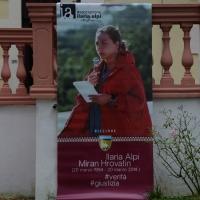 """Foto Nicoloro G. 04/09/2014 Riccione ( Rimini ) Ventesima edizione del """" Premio giornalistico televisivo Ilaria Alpi """" a venti anni dall' uccisione della giornalista di Rai 3 e del suo cameraman avvenuta a Mogadiscio il 20 marzo 1994. nella foto il manifesto dell' evento."""