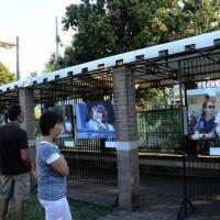 """Foto Nicoloro G. 06/09/2013 Riccione ( Rimini ) Diciannovesima edizione del """" Premio giornalistico televisivo Ilaria Alpi """". nella foto La mostra di Raffaele Ciriello"""