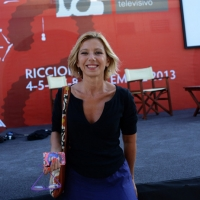 """Foto Nicoloro G. 06/09/2013 Riccione ( Rimini ) Diciannovesima edizione del """" Premio giornalistico televisivo Ilaria Alpi """". nella foto Concita De Gregorio"""