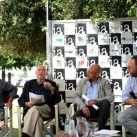 """Foto Nicoloro G. 06/09/2013 Riccione ( Rimini ) Diciannovesima edizione del """" Premio giornalistico televisivo Ilaria Alpi """". nella foto Andrea Vianello – Luca Ajroldi – – Francesco Cavalli"""