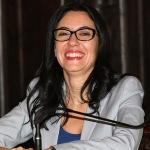 Foto Nicoloro G.   15/09/2020   Ravenna   Con l' intervento della ministra dell' Istruzione si e' svolta la presentazione dei progetti scolastici dedicati a Dante, in occasione del 700° anno dalla morte del Sommo Poeta. nella foto la ministra dell' Istruzione Lucia Azzolina.