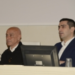 Foto Nicoloro G.   16/02/2019    Ravenna   Presentazione del libro ' Sicurezza e' Liberta' '. nella foto l' ex ministro Marco Minniti, autore del libro, a sinistra, e il sindaco di Ravenna Michele de Pascale.
