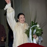 """Foto Nicoloro G.    05/10/2014   Ravenna  Presentazione del libro """" Passo dopo passo. La mia Storia """". nella foto l' autrice, l' etoile Carla Fracci."""