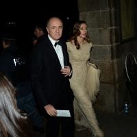 Foto Nicoloro G.  07/12/2014    Milano    Tradizionale serata inaugurale della stagione lirica del Teatro alla Scala. nella foto Corrado Passera con la moglie Giovanna Salza.