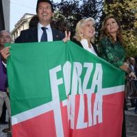 Foto Nicoloro G. 21/09/2013 Milano Prima assemblea della nuova Forza Italia con l' intervento del vice premier Angelino Alfano. nella foto Daniela Santanchè e alcuni sostenitori