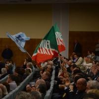 Foto Nicoloro G. 21/09/2013 Milano Prima assemblea della nuova Forza Italia con l' intervento del vice premier Angelino Alfano. nella foto Sostenitori e bandiere di Forza Italia