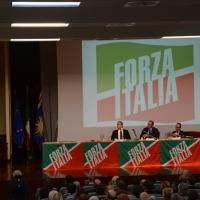 Foto Nicoloro G. 21/09/2013 Milano Prima assemblea della nuova Forza Italia con l' intervento del vice premier Angelino Alfano. nella foto Il tavolo della presidenza durante l'intervento di Angelino Alfano