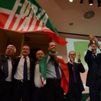 Foto Nicoloro G. 21/09/2013 Milano Prima assemblea della nuova Forza Italia con l' intervento del vice premier Angelino Alfano. nella foto Angelino Alfano e alcuni dirigenti del partito