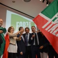 Forza Italia con l' intervento del vice premier Angelino Alfano. nella foto Angelino Alfano e alcuni dirigenti del partito
