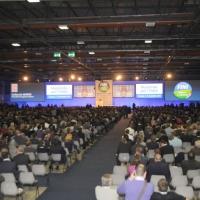 Foto Nicoloro G.  06/11/2010 Bastia Umbra  (Perugia)  Prima Convention di Futuro e Liberta' – Manifesto per l' Italia. nella foto Il salone della Convention