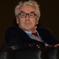 """Foto Nicoloro G.  16/11/2013  Milano   Quinta edizione di """" Science for Peace """" due giorni di dibattiti dedicati agli scienziati impegnati per la Pace. nella foto il filosofo e matematico Giulio Giorello."""