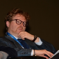 """Foto Nicoloro G.  16/11/2013  Milano   Quinta edizione di """" Science for Peace """" due giorni di dibattiti dedicati agli scienziati impegnati per la Pace. nella foto Giuseppe Testa, direttore Laboratorio Epigenetica IEO."""