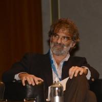 """Foto Nicoloro G.  16/11/2013  Milano   Quinta edizione di """" Science for Peace """" due giorni di dibattiti dedicati agli scienziati impegnati per la Pace. nella foto Alessandro Treves, neuroscienziato della SISSA."""