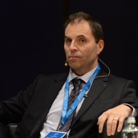 """Foto Nicoloro G.  16/11/2013  Milano   Quinta edizione di """" Science for Peace """" due giorni di dibattiti dedicati agli scienziati impegnati per la Pace. nella foto il professore Bruno Abd-al-Haqq Guiderdoni, direttore dell' Osservatorio di  Lione."""