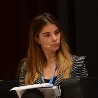 """Foto Nicoloro G.  16/11/2013  Milano   Quinta edizione di """" Science for Peace """" due giorni di dibattiti dedicati agli scienziati impegnati per la Pace. nella foto la giornalista  Giulia Innocenzi."""