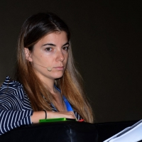 """Foto Nicoloro G.  16/11/2013  Milano   Quinta edizione di """" Science for Peace """" due giorni di dibattiti dedicati agli scienziati impegnati per la Pace. nella foto Giulia Innocenzi, de La7."""