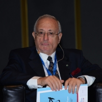 """Foto Nicoloro G.  16/11/2013  Milano   Quinta edizione di """" Science for Peace """" due giorni di dibattiti dedicati agli scienziati impegnati per la Pace. nella foto il generale Fabio Mini."""