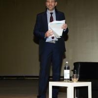 """Foto Nicoloro G.  16/11/2013  Milano   Quinta edizione di """" Science for Peace """" due giorni di dibattiti dedicati agli scienziati impegnati per la Pace. nella foto il conduttore di """" Piazza Pulita """", Corrado Formigli."""