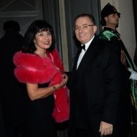 Foto Nicoloro G. 07/12/2013 Milano Tradizionale Prima alla Scala che annovera quest' anno anche la presenza del Capo dello Stato. nella foto Giorgio Squinzi e la moglie