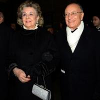 Foto Nicoloro G. 07/12/2013 Milano Tradizionale Prima alla Scala che annovera quest' anno anche la presenza del Capo dello Stato. nella foto Antonio Borrelli e la moglie