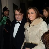 Foto Nicoloro G. 07/12/2013 Milano Tradizionale Prima alla Scala che annovera quest' anno anche la presenza del Capo dello Stato. nella foto Roberto Napoletano e la moglie