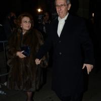 Foto Nicoloro G. 07/12/2013 Milano Tradizionale Prima alla Scala che annovera quest' anno anche la presenza del Capo dello Stato. nella foto Bruno Ermolli e la moglie