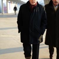 Foto Nicoloro G. 15/12/2013 Milano Prima Assemblea Nazionale del PD dopo le elezioni di Matteo Renzi a segretario. nella foto Franco Marini