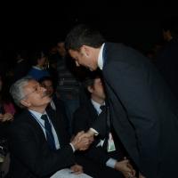 Foto Nicoloro G. 15/12/2013 Milano Prima Assemblea Nazionale del PD dopo le elezioni di Matteo Renzi a segretario. nella foto Matteo Renzi – Massimo D' Alema