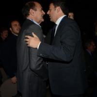 Foto Nicoloro G. 15/12/2013 Milano Prima Assemblea Nazionale del PD dopo le elezioni di Matteo Renzi a segretario. nella foto Matteo Renzi – Pier Luigi Bersani