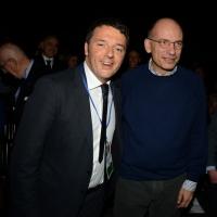 Foto Nicoloro G. 15/12/2013 Milano Prima Assemblea Nazionale del PD dopo le elezioni di Matteo Renzi a segretario. nella foto Matteo Renzi – Enrico Letta