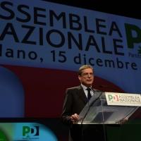 Foto Nicoloro G. 15/12/2013 Milano Prima Assemblea Nazionale del PD dopo le elezioni di Matteo Renzi a segretario. nella foto Gianni Cuperlo