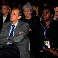 Foto Nicoloro G. 15/12/2013 Milano Prima Assemblea Nazionale del PD dopo le elezioni di Matteo Renzi a segretario. nella foto Piero Fassino – Cècile Kyienge