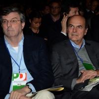 Foto Nicoloro G. 15/12/2013 Milano Prima Assemblea Nazionale del PD dopo le elezioni di Matteo Renzi a segretario. nella foto Claudio Burlando – Pier Luigi Bersani