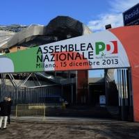 Foto Nicoloro G. 15/12/2013 Milano Prima Assemblea Nazionale del PD dopo le elezioni di Matteo Renzi a segretario. nella foto Il Portale d'Ingresso