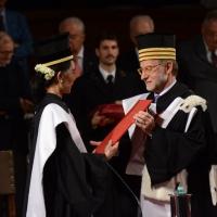 Foto Nicoloro G. 30/10/2013 Bologna Il leader dell' opposizione birmana Aung San Suu Kyi ospite della città di Bologna per ricevere la cittadinanza onoraria in Comune e la laurea honoris causa in Università. nella foto Aung San Suu Kyi – Ivano Dionigi