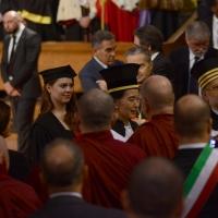 Foto Nicoloro G. 30/10/2013 Bologna Il leader dell' opposizione birmana Aung San Suu Kyi ospite della città di Bologna per ricevere la cittadinanza onoraria in Comune e la laurea honoris causa in Università. nella foto Angela Bisimosca  - Aung San Suu Kyi – Ivano