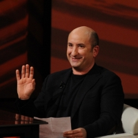 """Foto Nicoloro G. 09/12/2012 Milano Trasmissione televisiva su Rai3 """" Che tempo che fa """" condotta da Fabio Fazio. nella foto Antonio Albanese"""