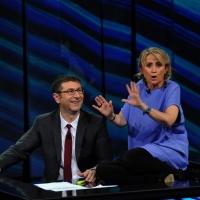"""Foto Nicoloro G. 09/12/2012 Milano Trasmissione televisiva su Rai3 """" Che tempo che fa """" condotta da Fabio Fazio. nella foto Fabio Fazio – Luciana Littizzetto"""