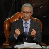 """Foto Nicoloro G. 10/12/2012 Milano Trasmissione televisiva su Rai3 """" Che tempo che fa """" condotta da Fabio Fazio. nella foto Neri Marcorè"""