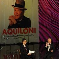 """Foto Nicoloro G. 10/12/2012 Milano Trasmissione televisiva su Rai3 """" Che tempo che fa """" condotta da Fabio Fazio. nella foto Fabio Fazio – Paolo Poli"""