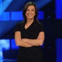 """Foto Nicoloro G. 10/12/2012 Milano Trasmissione televisiva su Rai3 """" Che tempo che fa """" condotta da Fabio Fazio. nella foto Daria Bignardi"""
