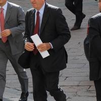 Foto Nicoloro G. 14/05/2012 Milano Si e' tenuta in Borsa la relazione annuale della Consob alla presenza del Capo dello Stato Giorgio Napolitano. nella foto Edmondo Bruti Liberati