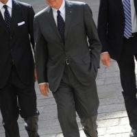 Foto Nicoloro G. 14/05/2012 Milano Si e' tenuta in Borsa la relazione annuale della Consob alla presenza del Capo dello Stato Giorgio Napolitano. nella foto Franco Bernabe'