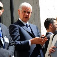 Foto Nicoloro G. 14/05/2012 Milano Si e' tenuta in Borsa la relazione annuale della Consob alla presenza del Capo dello Stato Giorgio Napolitano. nella foto Roberto Formigoni