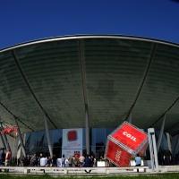 Foto Nicoloro G. 06/05/2014  Rimini   Si è aperto ufficialmente il 17° Congresso della CGIL. nella foto il Palacongressi dove si svolge la manifestazione.