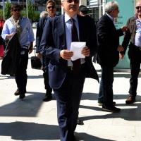 Foto Nicoloro G.  06/05/2014  Rimini   Si è aperto ufficialmente il 17° Congresso della CGIL. nella foto l'arrivo di Massimo D'Alema.