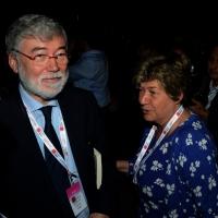 Foto Nicoloro G.  06/05/2014  Rimini   Si è aperto ufficialmente il 17° Congresso della CGIL. nella foto Susanna Camusso e Sergio Cofferati.